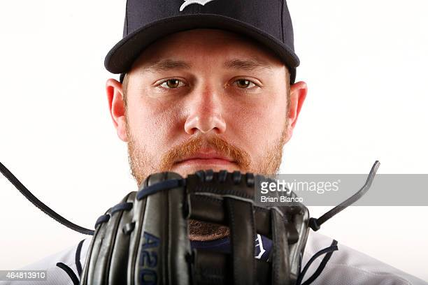 Alex Wilson of the Detroit Tigers poses for a photo during the Tigers' photo day on February 28 2015 at Joker Marchant Stadium in Lakeland Florida