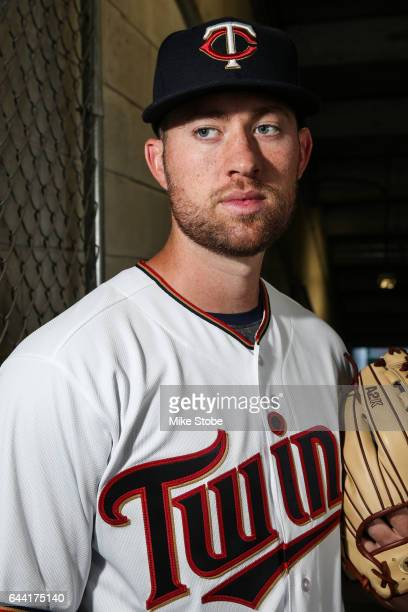 Alex Wimmers of the Minnesota Twins poses for a portait during a MLB photo day at CenturyLink Sports Complex Hammond Stadium on February 23 2017 in...