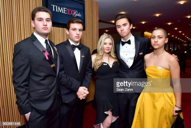 Alex Wind Cameron Kasky Jaclyn Corin David Hogg and Emma Gonzalez attend the 2018 TIME 100 Gala at Jazz at Lincoln Center on April 24 2018 in New...
