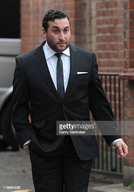 Alex Winehouse Amy's brother attends the wake of singer Amy Winehouse at Southgate Centre For Judaism on July 26 2011 in London England