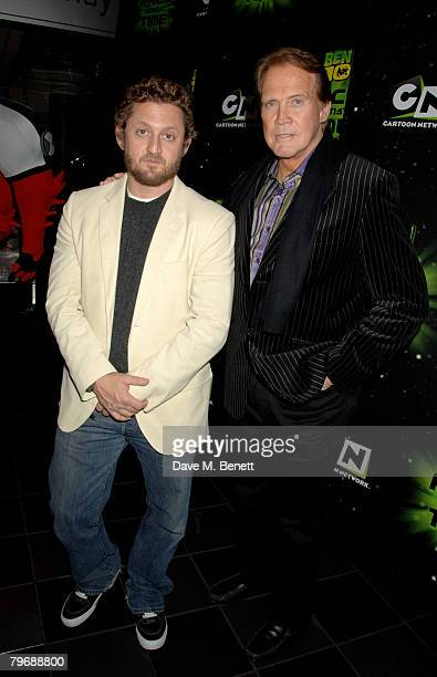 Alex Winter and Lee Majors arrive at the UK premiere of 'Ben 10 Race Against Time' at the Vue Cinema Leicester Square on February 10 2008 in London...