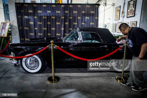Alex Wisotsky puts the shine on Marilyn Monroe's 1956 Thunderbird before it goes up for auction this weekend Julien's Auctions featured the 'Street...