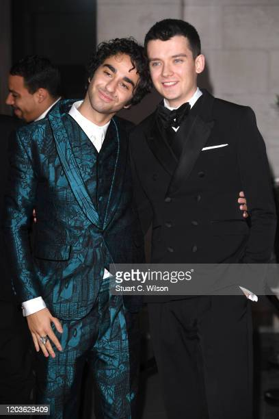Alex Wolff and Asa Butterfield attend the EE British Academy Film Awards 2020 After Party at The Grosvenor House Hotel on February 02 2020 in London...