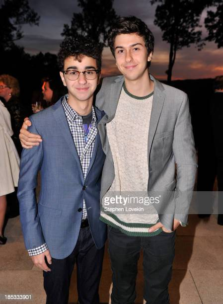 Alex Wolff and Nat Wolff attend a reception hosted by Ted and Lynn Leonsis celebrating the 2013 Audi Best Buddies Challenge Washington DC on October...
