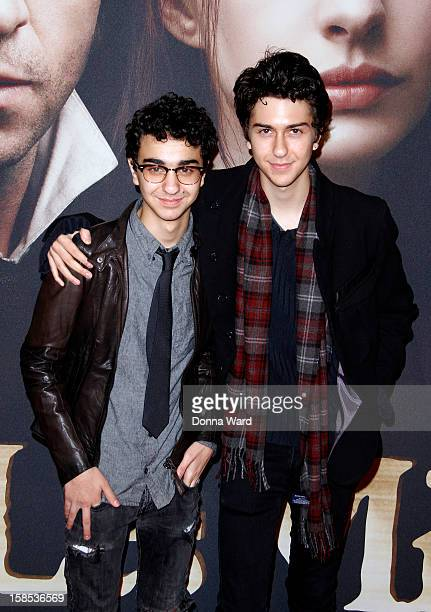 Alex Wolff and Nat Wolff attend the world premiere of 'Les Miserables' at Ziegfeld Theatre on December 10 2012 in New York City