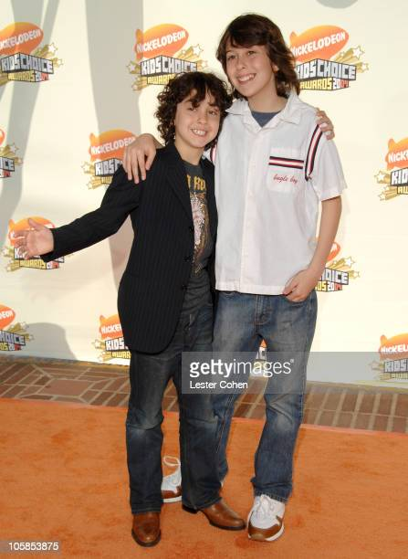 Alex Wolff and Nat Wolff during Nickelodeon's 20th Annual Kids' Choice Awards Arrivals at Pauley Pavilion in Westwood California United States