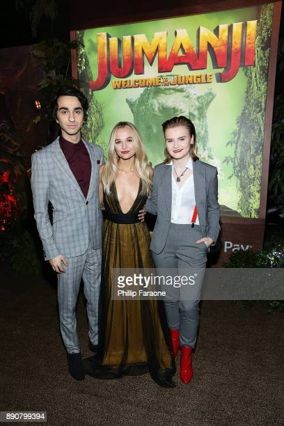 Alex Wolff Madison Iseman and Morgan Turner attend the premiere of Columbia Pictures' Jumanji Welcome To The Jungle on December 11 2017 in Hollywood...