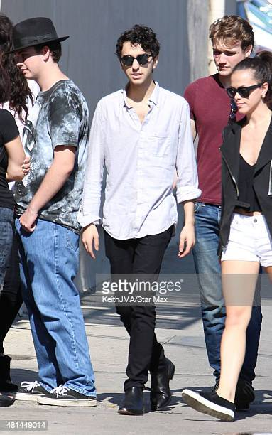 Alex Wolff of The Naked Brothers Band is seen on July 20 2015 in Los Angeles California