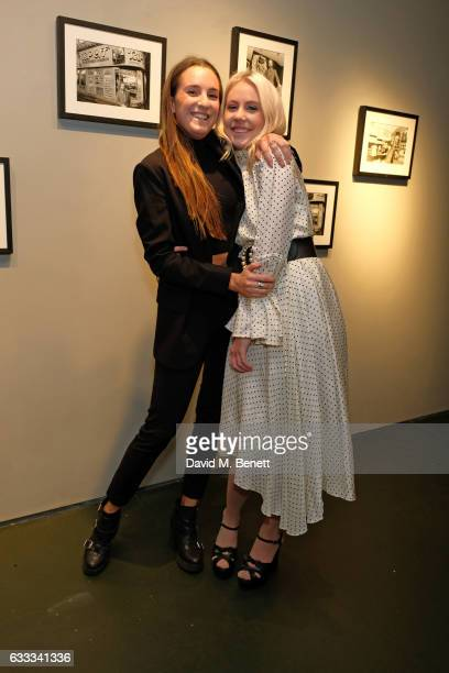 Alex Wood and India Rose James attend a private view of 'A Paul Raymond Show' an exhibition curated by Alex Wood and India Rose James at Soho Revue...