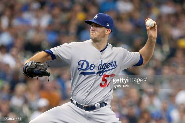 Brent Suter of the Milwaukee Brewers pitches in the first inning against the Los Angeles Dodgers at Miller Park on July 22 2018 in Milwaukee Wisconsin