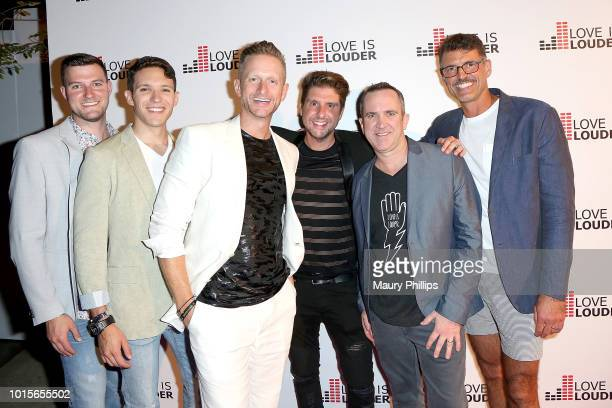 Alex Woodall Caleb Spivak Butch Whitfield Courtney Knowles Jason Menhennet and Michael Lambert attend Chaz Dean Summer Party 2018 Benefiting Love is...
