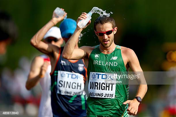 Alex Wright of Ireland competes in the Men's 50km Race Walk during day eight of the 15th IAAF World Athletics Championships Beijing 2015 at Beijing...