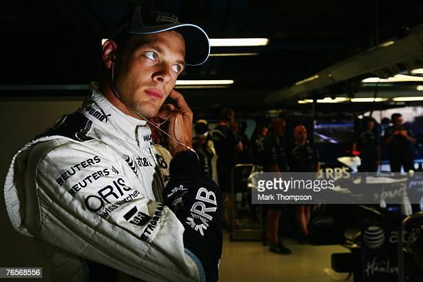 Alex Wurz of Austria and Williams prepares to drive during practice for the Italian Formula One Grand Prix at the Autodromo Nazionale di Monza on...