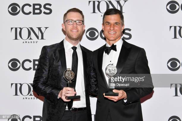 Alex Wyse and Ken Davenport pose in the 72nd Annual Tony Awards Media Room at 3 West Club on June 10 2018 in New York City