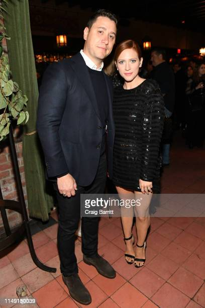 Alex Yarosh and Brittany Snow attend the Gersh Upfronts Party 2019 at The Bowery Hotel Terrace on May 14 2019 in New York City