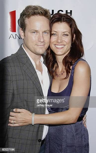 Alex Young and Kate Walsh arrives at the Much Love Animal Rescue Presents The Second Annual Bow Wow WOW at The Playboy Mansion on July 19 2008 in...