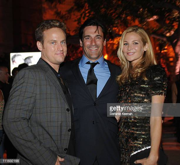Alex Young, Jon Hamm and Jennifer Westfeldt attend Entertainment Weekly's 6th annual pre-Emmy celebration presented by Revlon at the Historic Beverly...