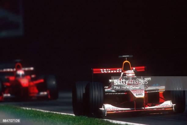 Alex Zanardi Mika Salo WilliamsSupertec FW21 Grand Prix of Italy Autodromo Nazionale Monza 12 September 1999 Alex Zanardi braking for the Ascari...