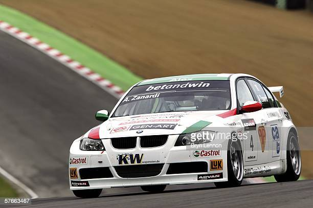 Alex Zanardi of Italy and BMW Team Italy-Spain in action during free practice for the FIA World Touring Car Championship on May 20, 2006 at Brands...