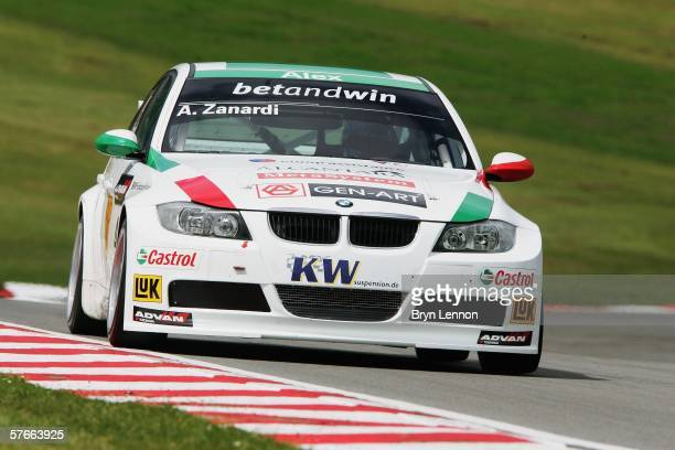 Alex Zanardi of Italy and BMW Team ItalySpain in action during free practice for the FIA World Touring Car Championship on May 20 2006 at Brands...