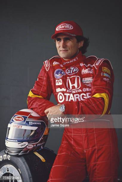 Alex Zanardi of Italy driver of the Target Ganassi Racing Reynard 98i Honda during testing for the Championship Auto Racing Teams 1998 FedEx...