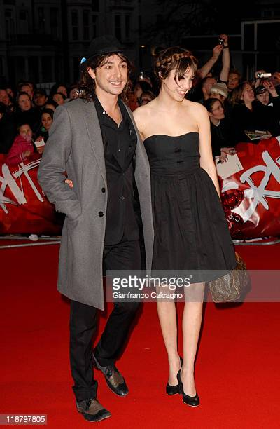 Alex Zane and Alexa Chung during The Mastercard Brit Awards 2007 Outside Arrivals at Earls Court in London Great Britain