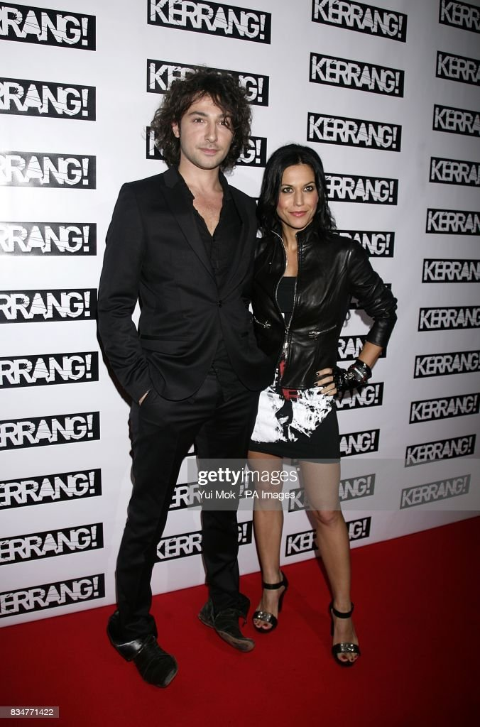 alex zane and cristina scabbia arrive for the kerrang awards at the