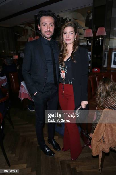 Alex Zane and Nettie Wakefield attend a dinner in celebration of Wim WendersÕ Blain|Southern exhibition ÔEarly Works 19641984Õ at The Colony Grill...
