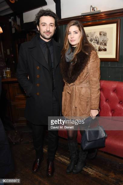 Alex Zane and Nettie Wakefield attend the LFWM Official Party Pub LockIn during London Fashion Week Men's January 2018 at The George on January 7...