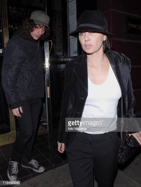 Alex Zane and Sadie Frost during Kate Moss and Sadie Frost Sighting at a Camden Pub London December 12 2006 at A Camden Pub in London Great Britain