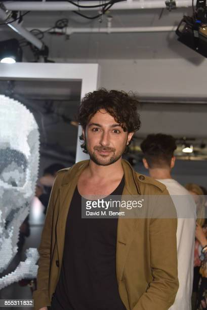 Alex Zane attends a private view of artist Chemical X's new exhibition 'CX300' at The Vinyl Factory on September 28 2017 in London England