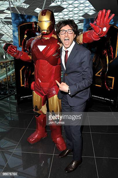 Alex Zane attends VIP screening of 'Iron Man 2' at Vue West End on April 26 2010 in London England