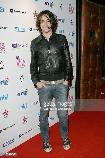 Alex Zane during 2005 BT Digital Music Awards Arrivals at Hammersmith Palais in London Great Britain