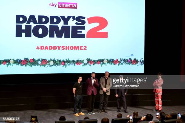 Alex Zane Mel Gibson John Lithgow Will Ferrell and Mark Wahlberg attend the UK Premiere of 'Daddy's Home 2' at Vue West End on November 16 2017 in...
