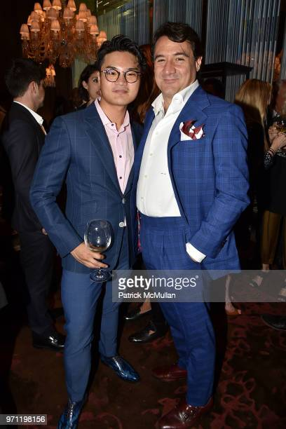 Alex Zhuang and Max Girombelli attend Christopher R King Debuts New Luxury Brand CCCXXXIII at Baccarat Hotel on June 5 2018 in New York City