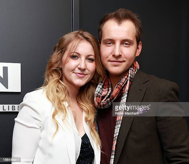 Alexa Ammon and Greg Ammon attend the ribbon cutting for The Ammon Archives and Music Library at Jazz at Lincoln Center on November 15 2012 in New...