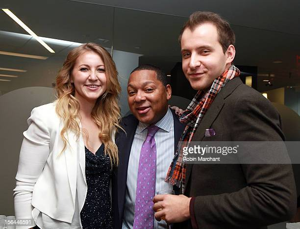 Alexa Ammon Wynton Marsalis and Greg Ammon attend the ribbon cutting for The Ammon Archives and Music Library at Jazz at Lincoln Center on November...