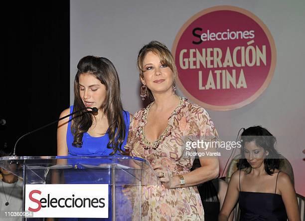 Alexa and Myrka Dellanos attend the Selecciones Generacion Latina Event at The Fifth on October 2 2008 in Miami Beach Florida