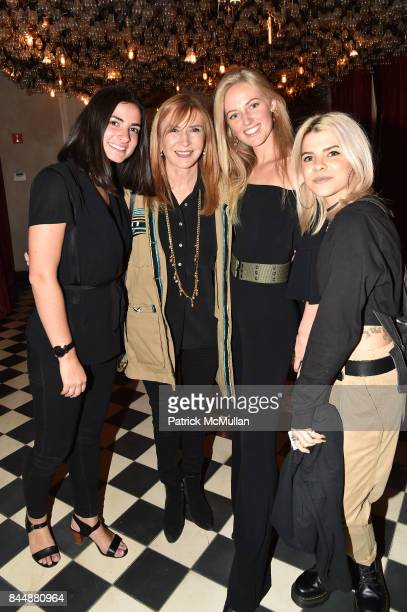Alexa Arcaini Nicole Miller Emma Atterholm and Kelsey Kizolek attend the Nicole Miller Spring 2018 Presentation at Gramercy Terrace at The Gramercy...