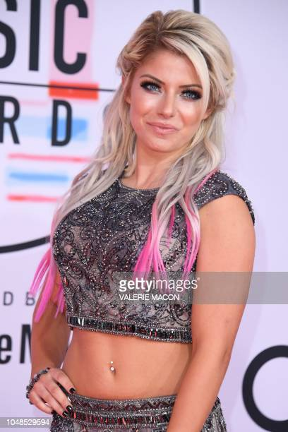 Alexa Bliss arrives at the 2018 American Music Awards on October 9 in Los Angeles California