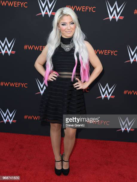 Alexa Bliss arrives at the WWE's FirstEver Emmy 'For Your Consideration' Event at Saban Media Center on June 6 2018 in North Hollywood California