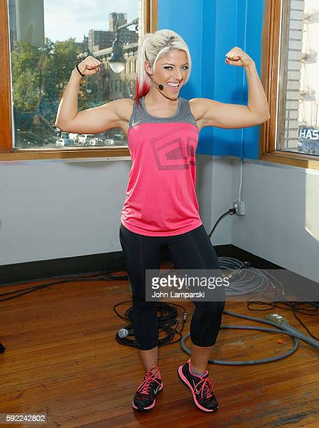Alexa Bliss attends Tapout Fitness WWE special event at Tapout Fitness on August 19 2016 in New York City