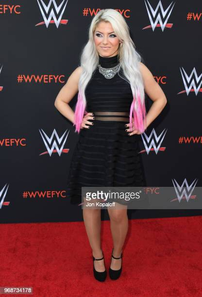 Alexa Bliss attends WWE's FirstEver Emmy 'For Your Consideration' Event at Saban Media Center on June 6 2018 in North Hollywood California