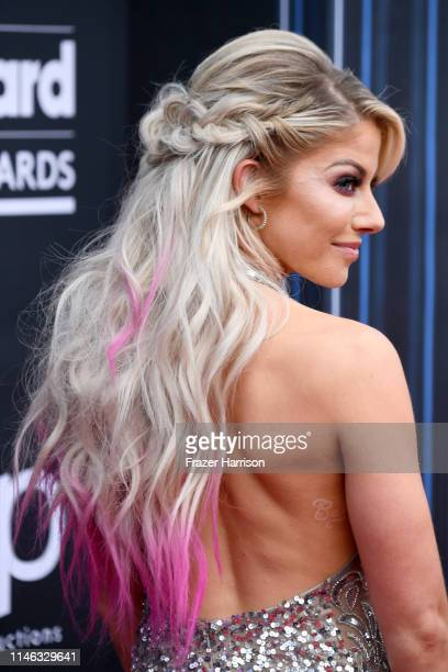 Alexa Bliss hair detail attends the 2019 Billboard Music Awards at MGM Grand Garden Arena on May 01 2019 in Las Vegas Nevada