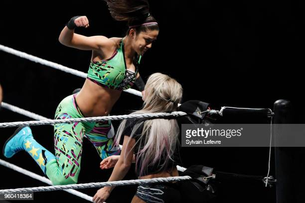 Alexa Bliss in action vs Bayley during WWE Live AccorHotels Arena Popb Paris Bercy on May 19 2018 in Paris France