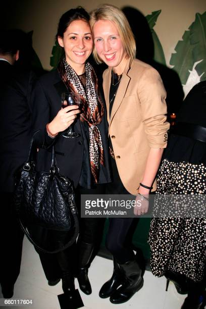 Alexa Brazilian and Lauren Goodman attend SIMON KNEEN Celebrates BANANA REPUBLIC'S Summer Heritage Collection at Indochine on January 15 2009 in New...