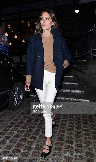 Alexa Chng leaves Vogue Festival on April 25 2015 in London England