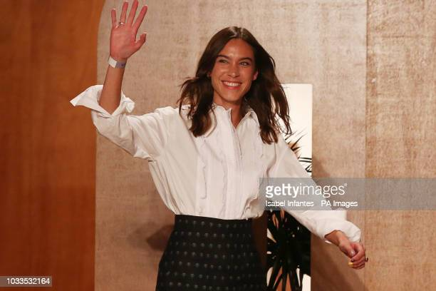 Alexa Chung after her London Fashion Week SS19 show held at Victoria House London