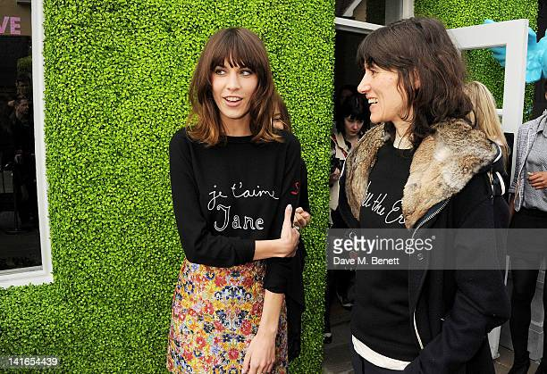 Alexa Chung and Bella Freud attend the Bicester Village British Designers Collective launch hosted by Alexa Chung on March 21 2012 in Bicester England