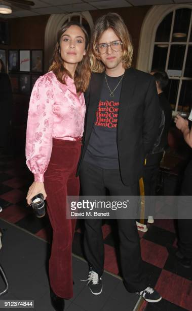 Alexa Chung and Bunny Kinney attend the ALEXACHUNG Fantastic collection party on January 30 2018 in London England